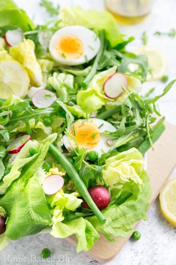 Spring Salad with Lemon Vinaigrette