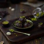 Miso Caramel & Pistachio Truffles